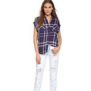 RAILS • Britt sleeveless button down shirt